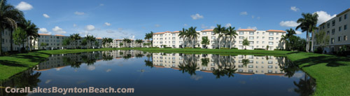 Enjoy sunny Boynton Beach, Florida from the balcony of your Coral Lakes condominium. A tranquil setting in which to relax.